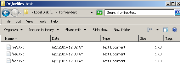 cmd – forfiles find delete old files