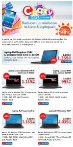 nebunia promotiilor–crazy days telefoane tablete laptopuri
