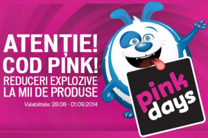 domo pink day-emag weekend-ul laptopurilor-market online