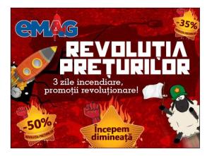 Revolutia preturilor la eMAG ziua I