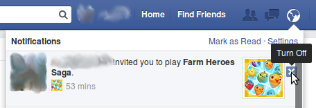 STOP game notifications on Facebook