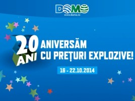 Domo aniversare 20 ani cu Reduceri Explozive