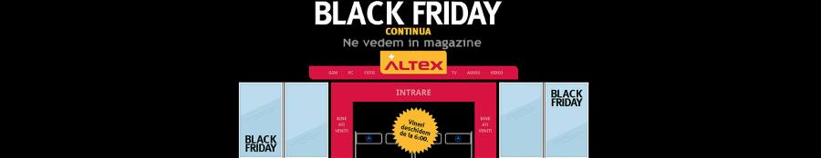 Altex si MediaGalaxy au inchis magazinul online de Black Friday! Oare de ce?