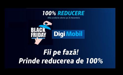 Black Friday la RCS-RDS cu 100% reducere pe 26 noiembrie!