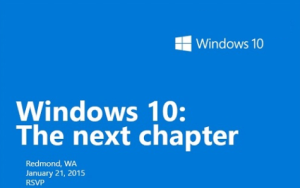 Prezentare live Windows 10: The Next Chapter
