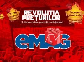 """Revolutia preturilor la eMAG maine 27 ianuarie cu preturi """"Revolutionare"""""""