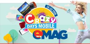 eMAG Crazy Days Mobile - cu promotii la telefoane, tablete si laptopuri