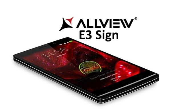 Allview lanseaza E3 Sign cu senzor de amprenta ss