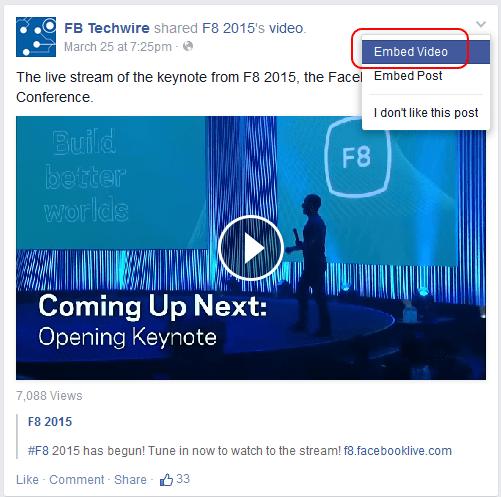 Cum poti incorpora clipurile de pe Facebook pe site-ul tau2