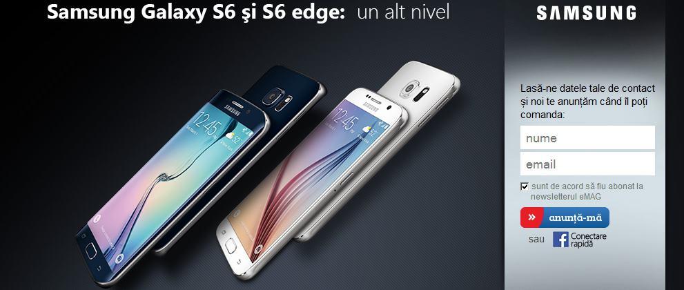 Samsung Galaxy S6 si S6 Edge precomanda la eMAG