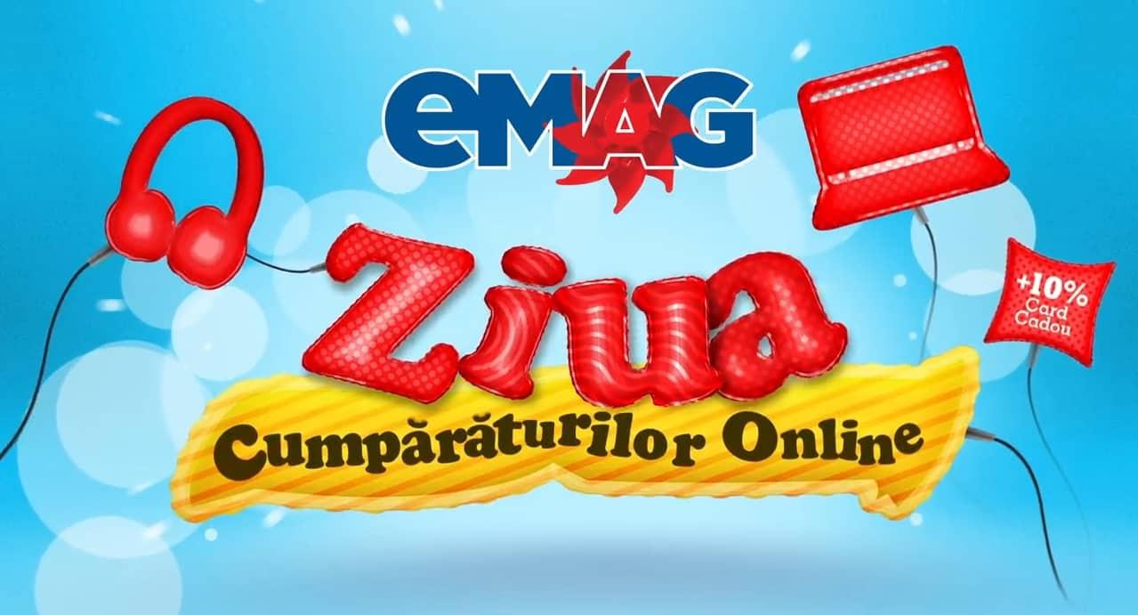 eMAG Ziua Cumparaturilor Online maine 12 martie