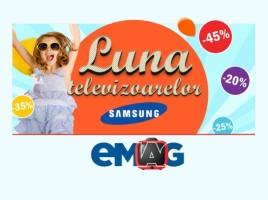 Luna Televizoarelor Samsung la eMAG logo ss2