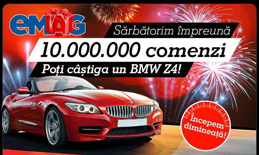 Concurs eMAG cu un BMW Z4 cadou pentru 10 milioane de comenzi 2