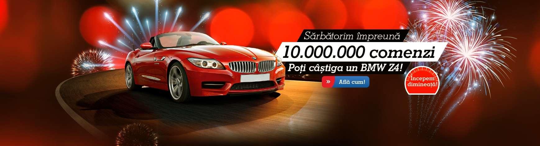 Concurs eMAG cu un BMW Z4 cadou pentru 10 milioane de comenzi