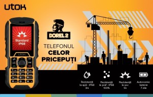 Utok lanseaza Dorel 2-telefon rezistent la socuri, apa si praf (rugged)
