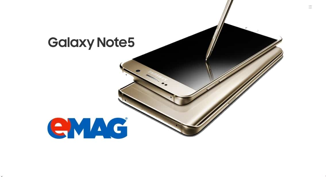Note 5 in stoc la emag