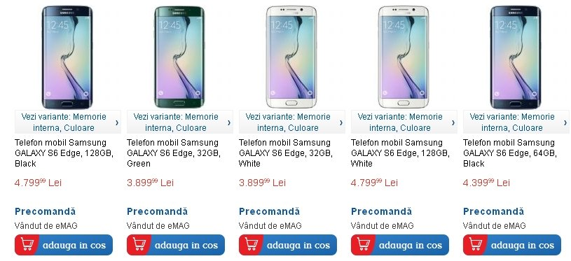 Samsung galaxy s6 Edge plus percomanda la emag 1