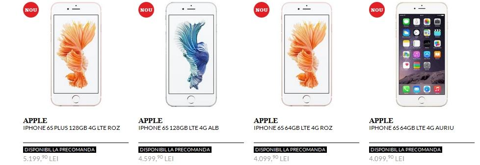iPhone 6s disponibil in romania prin Quickmobile 1