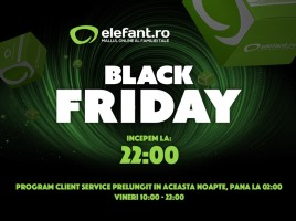Elefant Black Friday 2015 incepe azi la ora 22