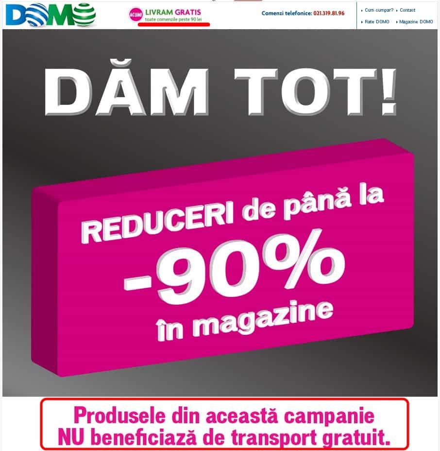 Domo reducere de 1 leu la campania DAM TOT-cu reduceri de pana la 90%!!!