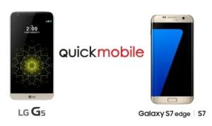 Samsung Galaxy S7 si LG G5 precomanda la QuickMobile