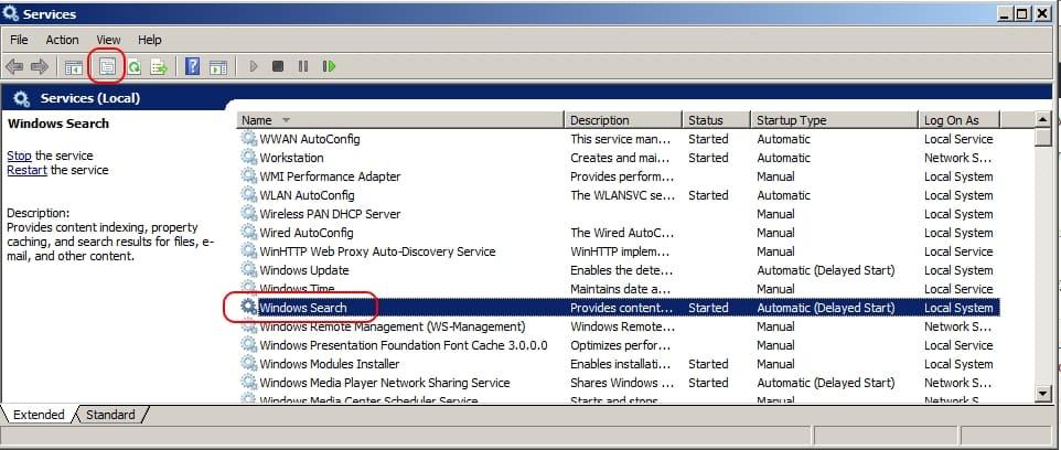 Ce faci cand Windows Search nu-ti gaseste fisierele de pe HDD services