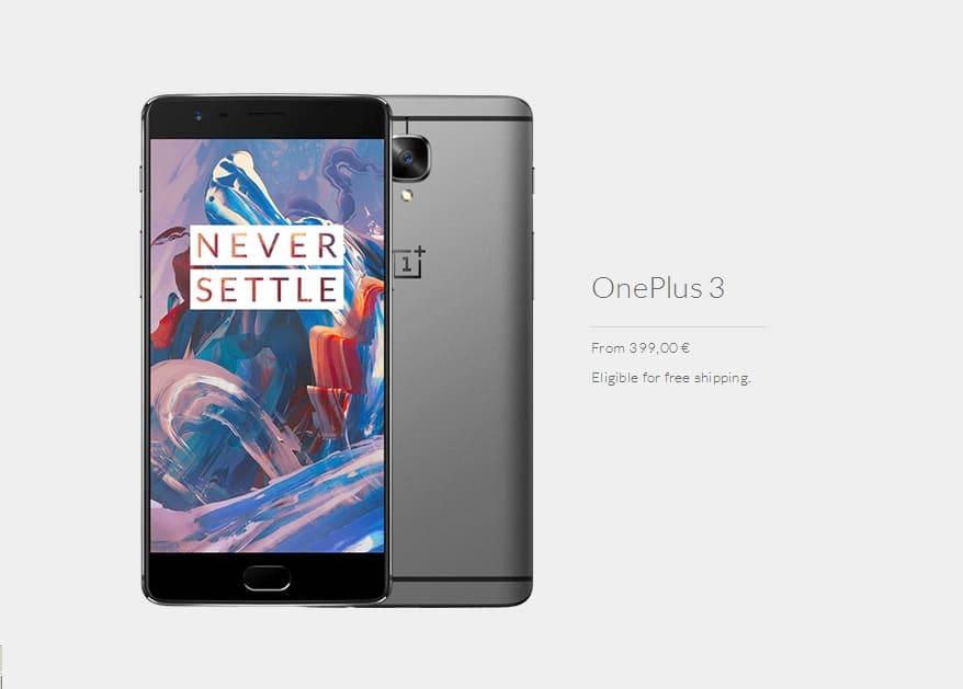 OnePlus 3 poate fi comandat in Romania cu free shipping