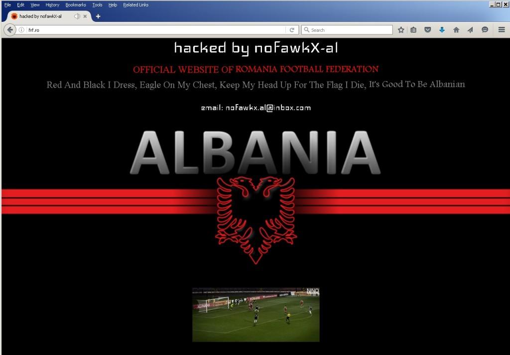 Site-ul FRF spart de hackerii albanezi