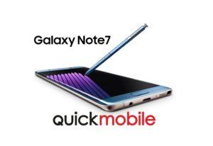 Galaxy Note 7 disponibil la QuickMobile!