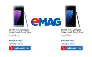 Samsung Galaxy Note7 la eMAG