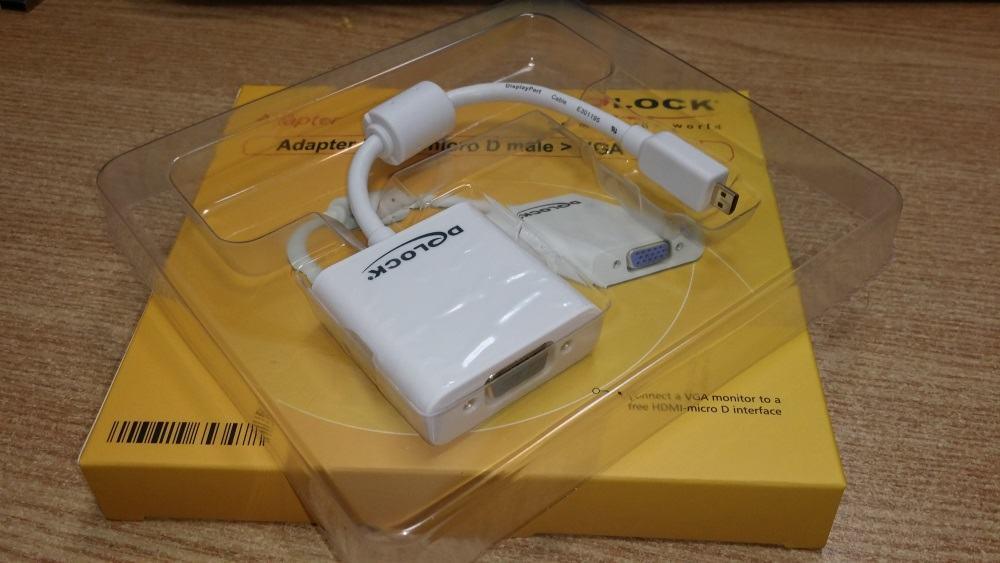 Teste cu un adaptor microHDMI-VGA