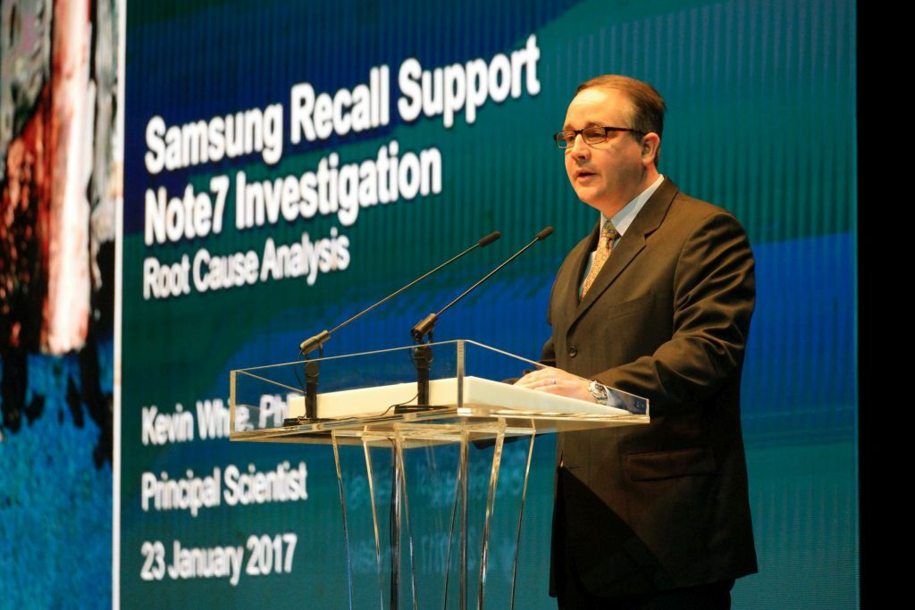 Samsung a anuntat cauza incidentelor Galaxy Note7 Bateria ss