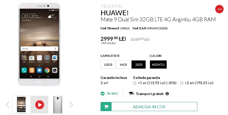 Huawei Mate 9 la quickmobile