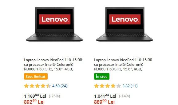 Oferta zilei - Lenovo IdeaPad 110-15IBR