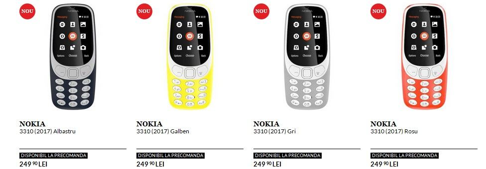 Avem afisate preturile pentru Nokia 3310 la QuickMobile