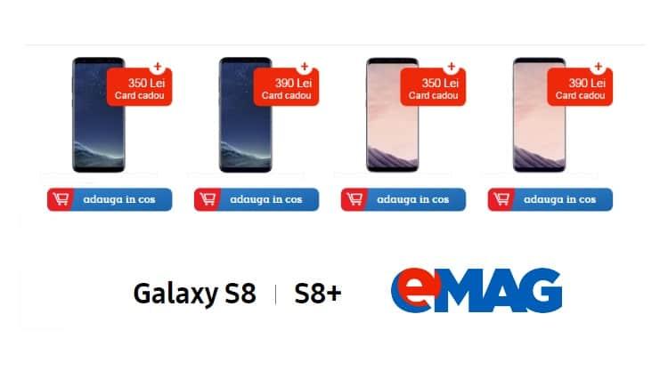 Avem preturile pentru Samsung Galaxy S8 si S8 Plus la eMAG