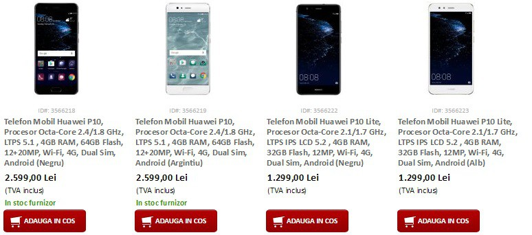 Ce pret are Huawei P10-disponibil in Romania la Precomanda-evomag