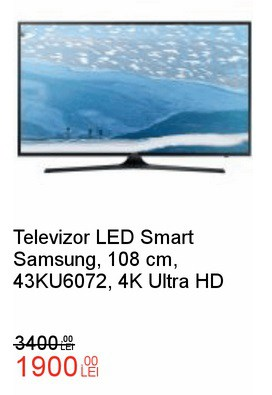 LED Smart Samsung, 108 cm, 43KU6072, 4K Ultra HDemag crazydays