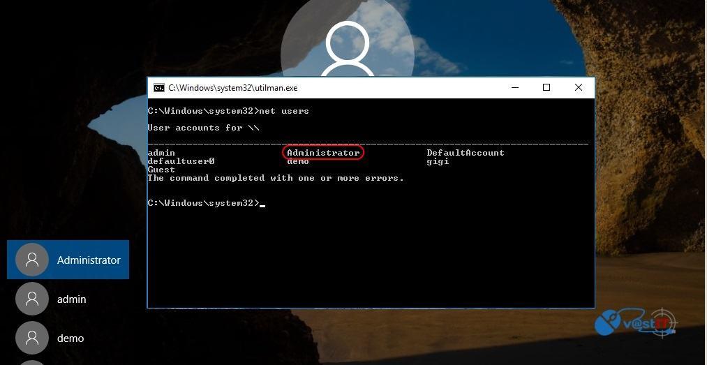 Recuperare parola de Windows 10, chiar si pentru contul Administrator-netusers