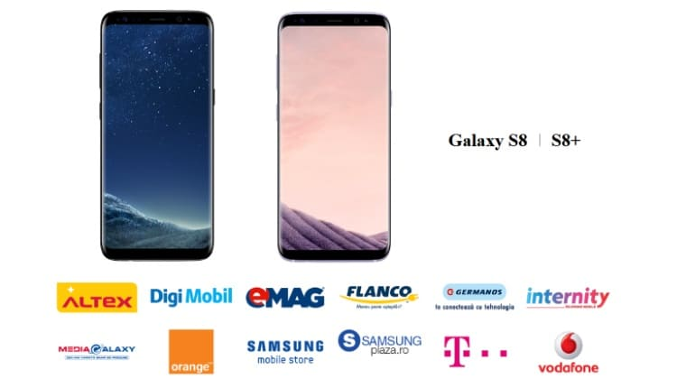 Samsung Galaxy S8 si S8 Plus in stoc la eMAG, Flanco, Vodafone, Orange