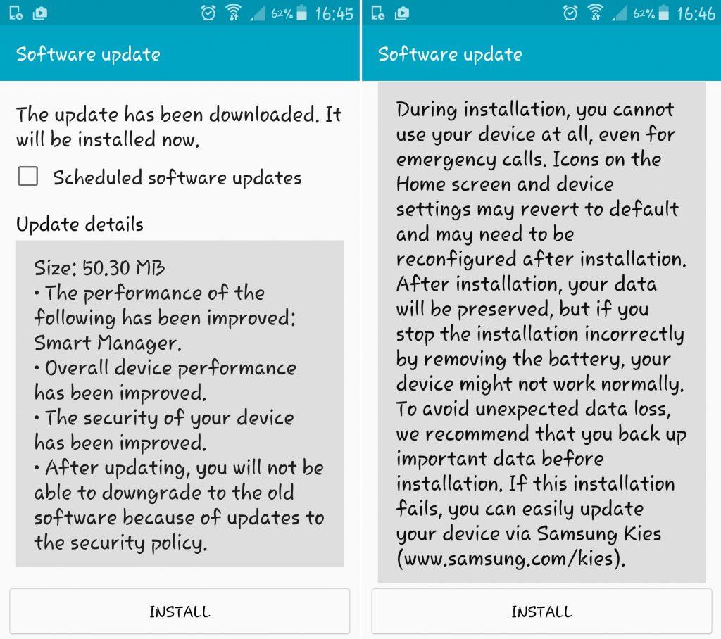 Samsung Galaxy Note 3 primeste un nou update 2