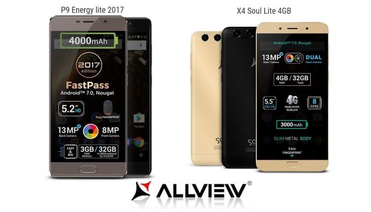 Allview a lansat X4 Soul Lite si P9 Energy Lite 2017