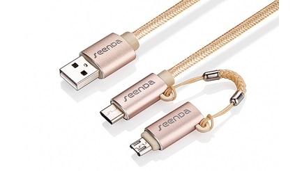 Cablu De Date USB - MicroUSB USB Type-C Seenda 2in1