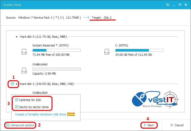 Concurs - Metoda simpla de mutare a sistemului de operare Windows de pe HDD pe un SSD nou si de capacitate mai mica2