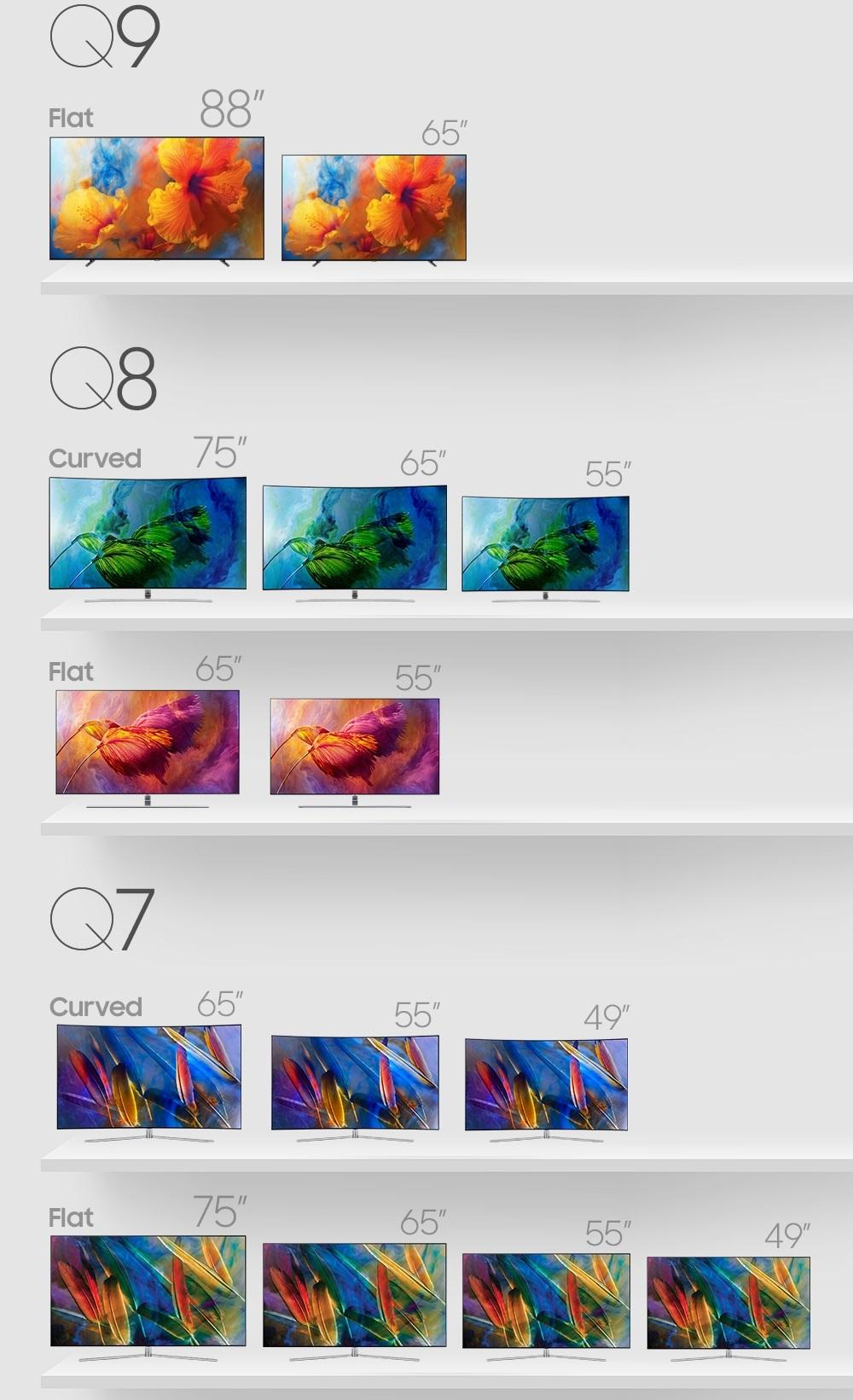 Noi modele de televizoare Samsung QLED Q8F cu ecran plat la IFA 2017-1