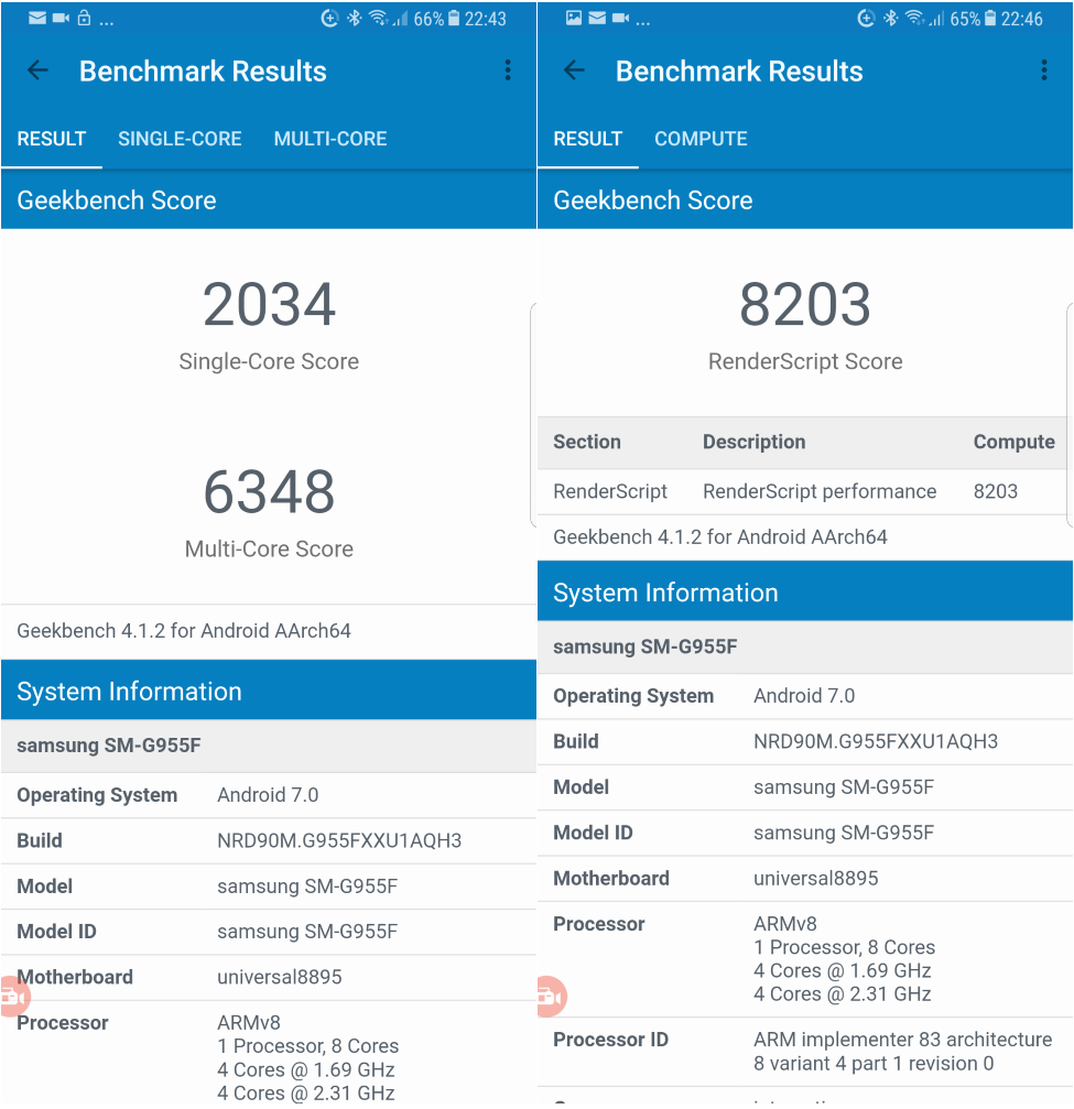 Review Galaxy S8 Plus - un telefon SUPERB dar SCUMP Geekbench 4