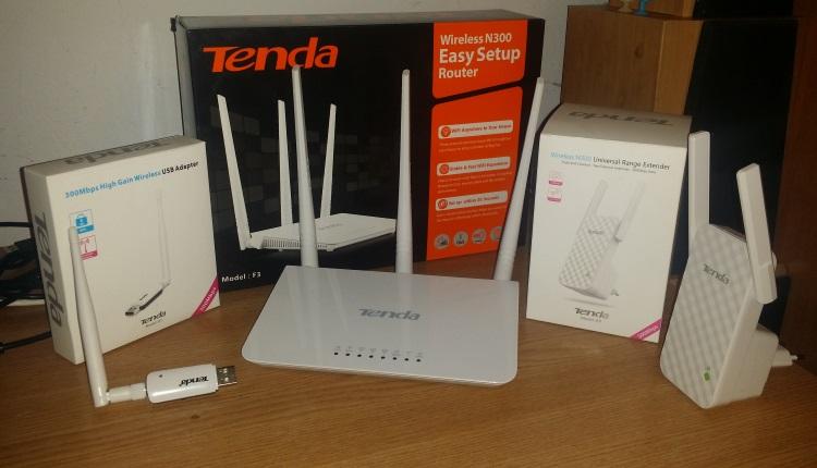 Router Tenda N300 F3, Range Extender A9, USB Adapter U1- Variant ieftina si simpla de retea fara fire (wireless) pentru acasa