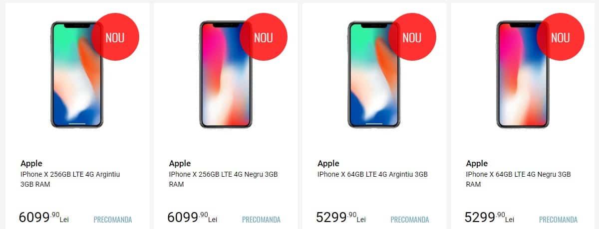 iPhone X disponibil la precomanda la eMAG, Altex, QuickMobile 3