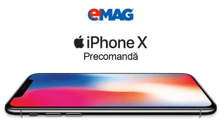 iPhone X disponibil la precomanda la eMAG, Altex, QuickMobile-ss