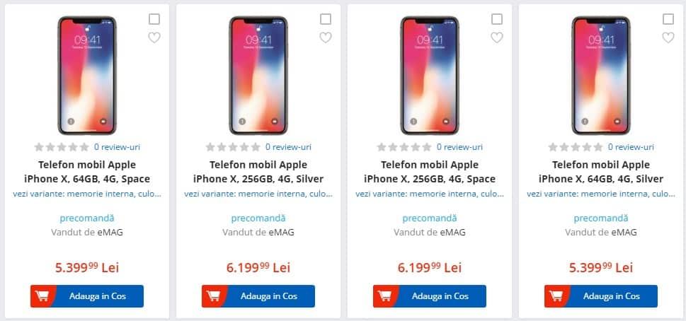 iPhone X disponibil la precomanda la eMAG, Altex, QuickMobile-ss